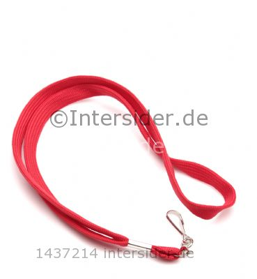 Lanyard 12mm flach mit metal Swivel Hook rot