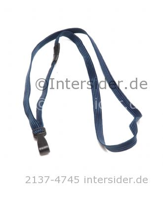 Lanyard 13 flach 10 mm Break Away Royal Blue,Kunststoff Haken 10 Stück