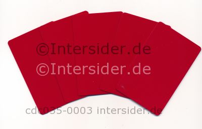 Plus Card Red eingefärbte PVC Plastikkarte