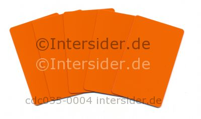 Plus Card Orange eingefärbte PVC Plastikkarte