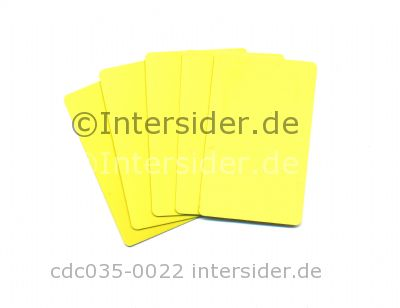 Plus Card Yellow eingefärbte PVC Plastikkarte