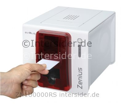 Kartendrucker Evolis Zenius Expert rot USB ETH SMART CL
